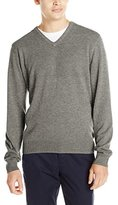 Haggar Men's Heather Tuck-Stitch V-Neck Sweater