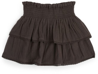 Bonton Smocked Skirt (4-12 Years)