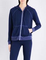 Sundry Contrast-trim jersey hoody