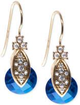 Marchesa Gold-Tone Pavé & Colored Stone Drop Earrings