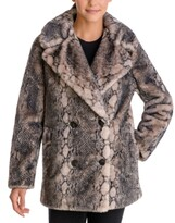 Thumbnail for your product : BCBGeneration Snake-Embossed Faux-Fur Coat