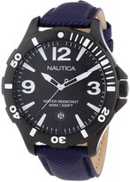 Nautica A13025G 40mm Stainless Steel Case Violet Nylon mineral Women's Watch