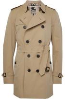 Burberry Kensington Mid-Length Cotton-Gabardine Trench Coat