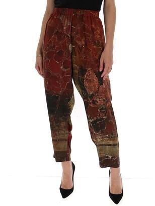 UMA WANG Graphic Printed Pants