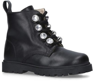 Florens Leather Embellished Boots