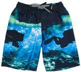 Big Chill Boys 4-7 Photoreal Scuba Diver Swim Trunks