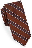Black Brown 1826 Striped Silk Tie