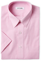 Pierre Cardin Pink Micro-Check Short Sleeve Dress Shirt
