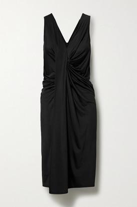 By Malene Birger Vella Draped Satin-jersey Dress