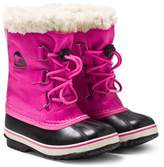 Sorel Pink Yoot Pac Nylon Boots