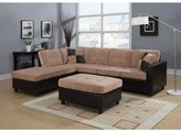 Acme Milano Camel Champion/ Espresso Reversible Sectional Sofa
