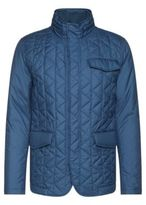 Hugo Boss Cadell Quilted Water Repellent Concealed Hood Jacket 38R Open Blue