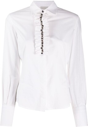 Gianfranco Ferré Pre-Owned 1990s Frill-Front Shirt