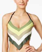 Vince Camuto Cropped Colorblocked Bikini Top