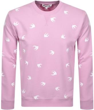McQ Swallow Sweatshirt Pink