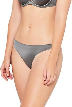 Iris & Lilly Amazon Brand Women's Thong Seamfree Metallic Stretch Fabric