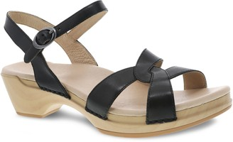 Dansko Leather Adjustable Ankle Strap Sandals -Karmen