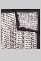 Hardy Amies Black & White Geo Silk Pocket Square