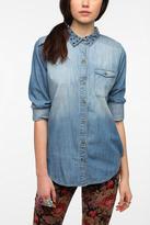 Studded Collar Chambray Shirt