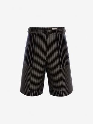Alexander McQueen Patchwork Pinstripe Shorts