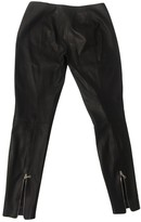Iris & Ink Black Leather Trousers for Women