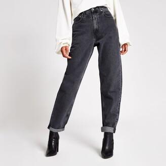 Dua Lipa X Pepe Jeans River Island Womens Dua Lip x Pepe Jeans Black wash denim jeans