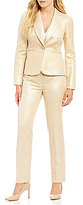 Albert Nipon Metallic Jacquard Cocktail Pant Suit