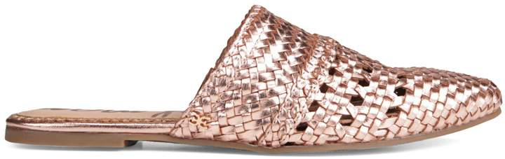 Sam Edelman Natalya Rose Goldtone Metallic Mule