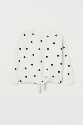 H&M Tie-detail sweatshirt