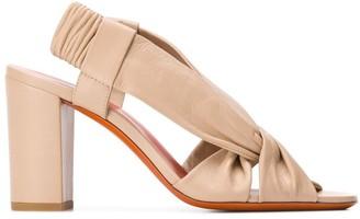 Santoni Slingback High Heeled Sandals