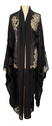 Roberto Cavalli Black Silk Coats
