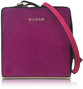 Balmain Pablito Purple Velvet Shoulder Bag