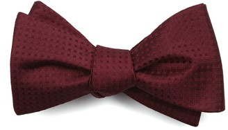 The Tie Bar Check Mates Burgundy Bow Tie