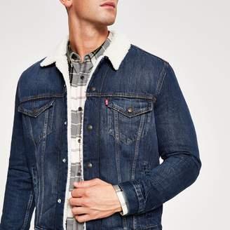 Levi's Mens River Island borg trim trucker jacket
