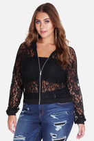 Fashion to Figure Corsica Lace Bomber Jacket