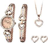 Sekonda Rose Tone Dial Ladies Watch, Bracelet, Necklace & Earring Gift Set