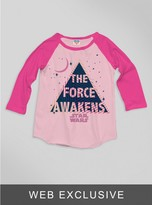 Junk Food Clothing Kids Girls Star Wars The Force Awaken Raglan-pa/fl-m