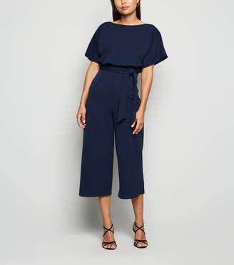 New Look Batwing Belted Culotte Jumpsuit