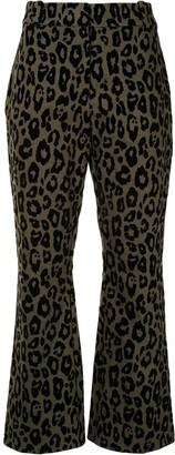 Derek Lam 10 Crosby Leopard-Print Kick-Flare Trousers