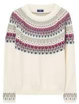 Gant Women's White Wool Sweater.