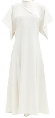 Ellery Makulu Handkerchief-sleeve Crepe Dress - Ivory