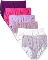 Fruit of the Loom Women's 6 Pack Comfort Covered Cotton Brief Panties