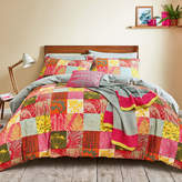 Clarissa Hulse Mini Patchwork Duvet Set - Pink - Double