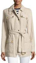 MICHAEL Michael Kors Linen Utility Jacket, Beige