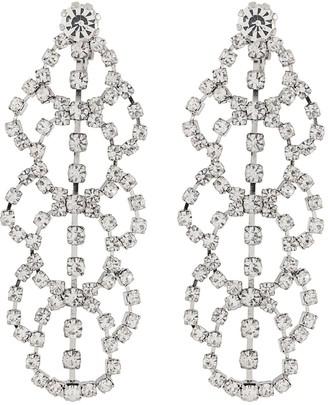 Kenneth Jay Lane Crystal Lace Clip Earrings