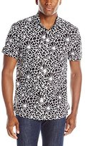 Perry Ellis Men's Short Sleeve Floral Print Shirt