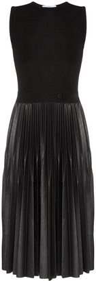 Givenchy Sleeveless Pleated Midi Dress