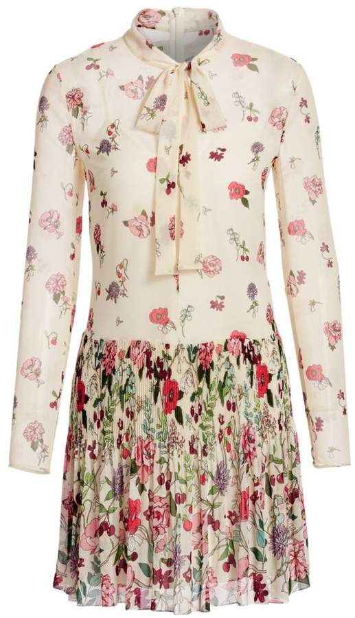 RED Valentino Floral Tieneck Dress