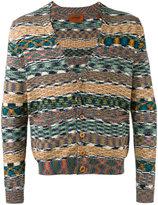 Missoni striped v-neck cardigan - men - Cotton - S