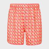 Paul Smith Men's Coral 'Peaches' Print Cotton Boxer Shorts